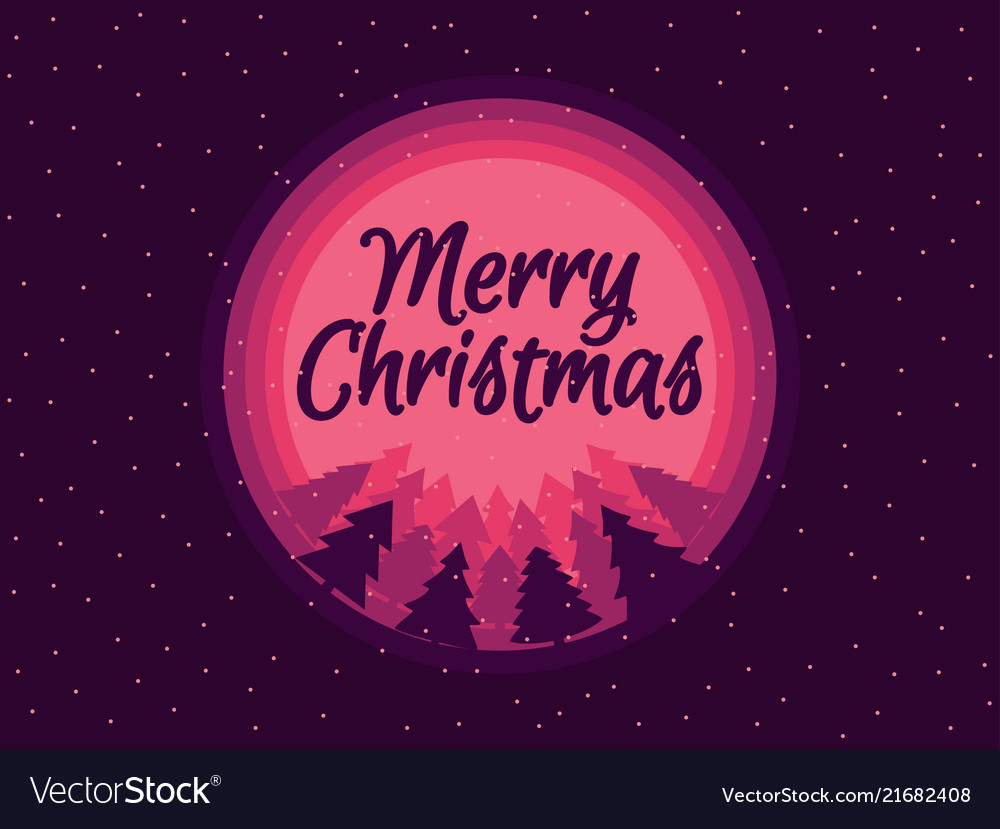 Merry christmas beautiful christmas with snow and Vector Image