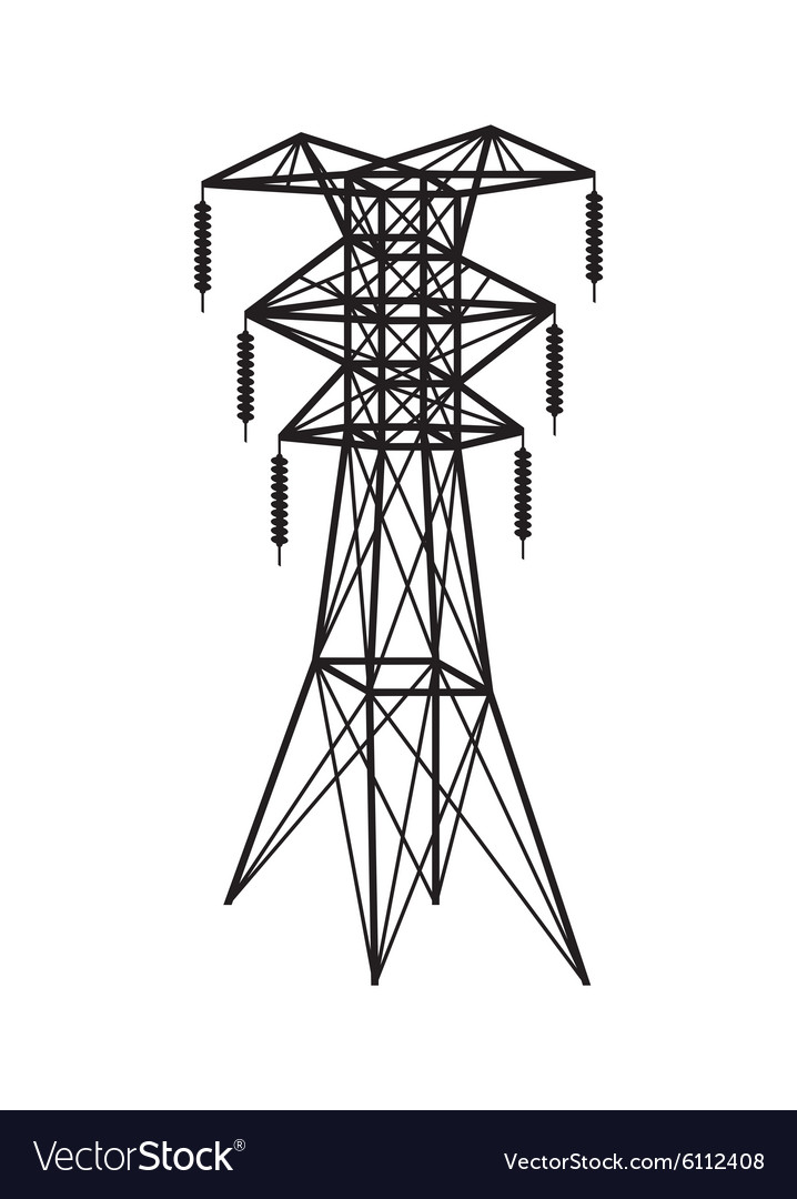 Power Transmission Tower Royalty Free Vector Image
