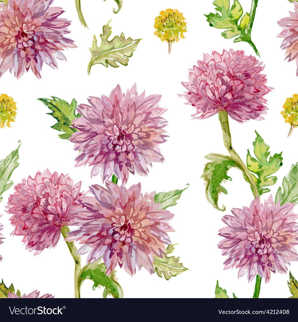 Seamless texture watercolor flowers golden-daisy