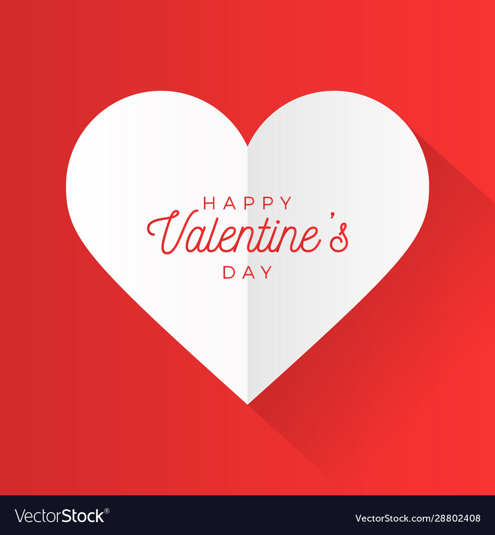 Valentine day abstract background with cut paper