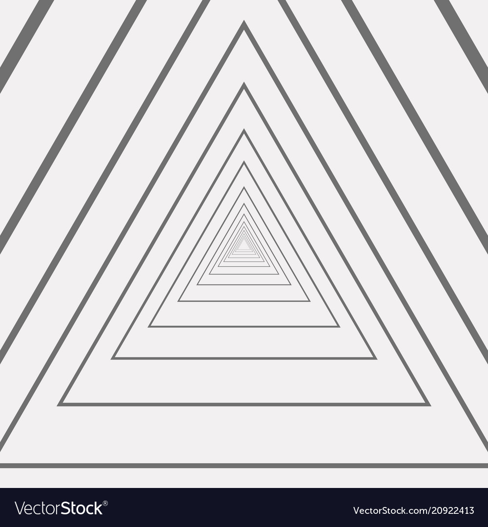 Abstract of triangle amaze gray and white pattern