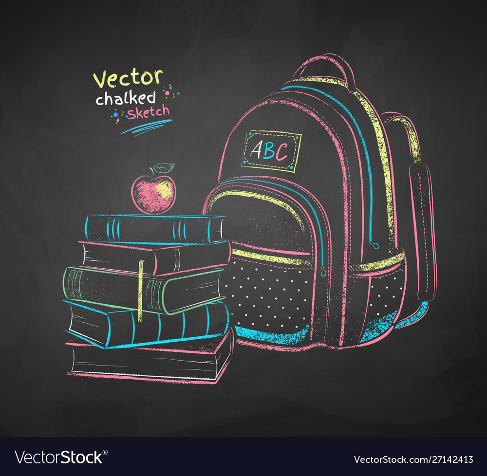Books and school bag