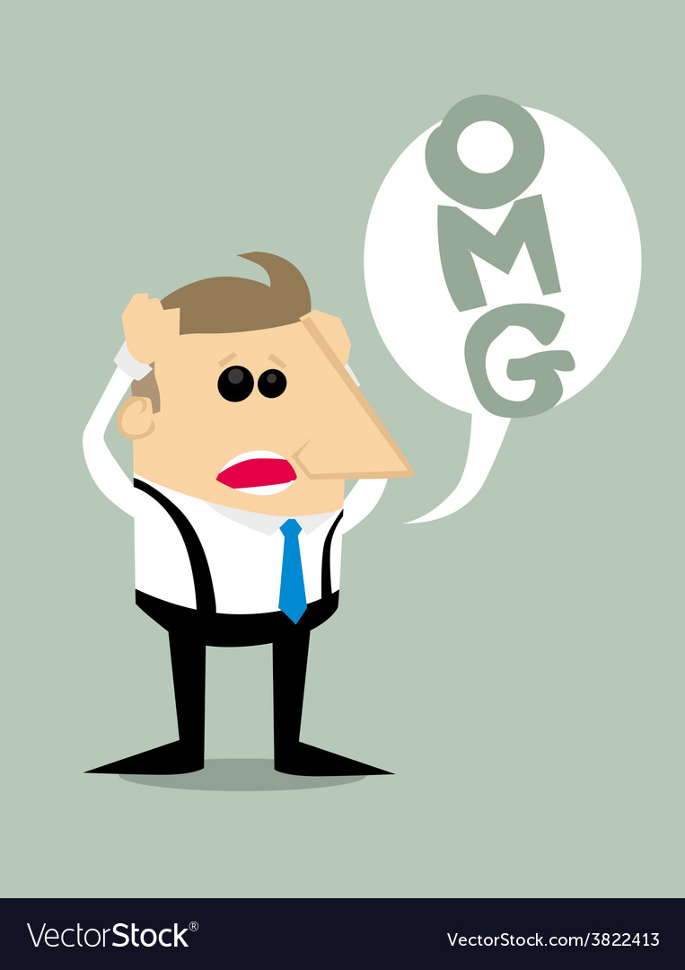 Desperate Cartoon businessman vector image