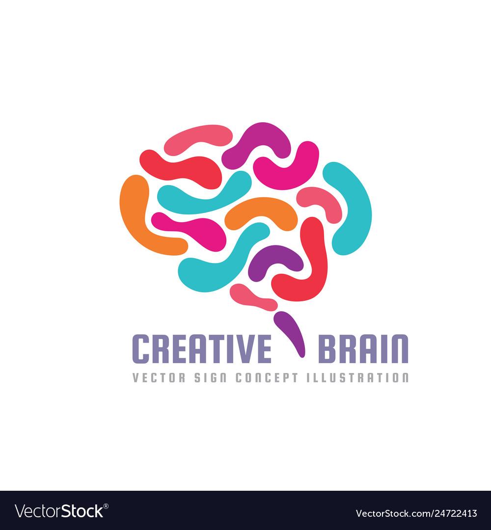 Human creative brain - logo template