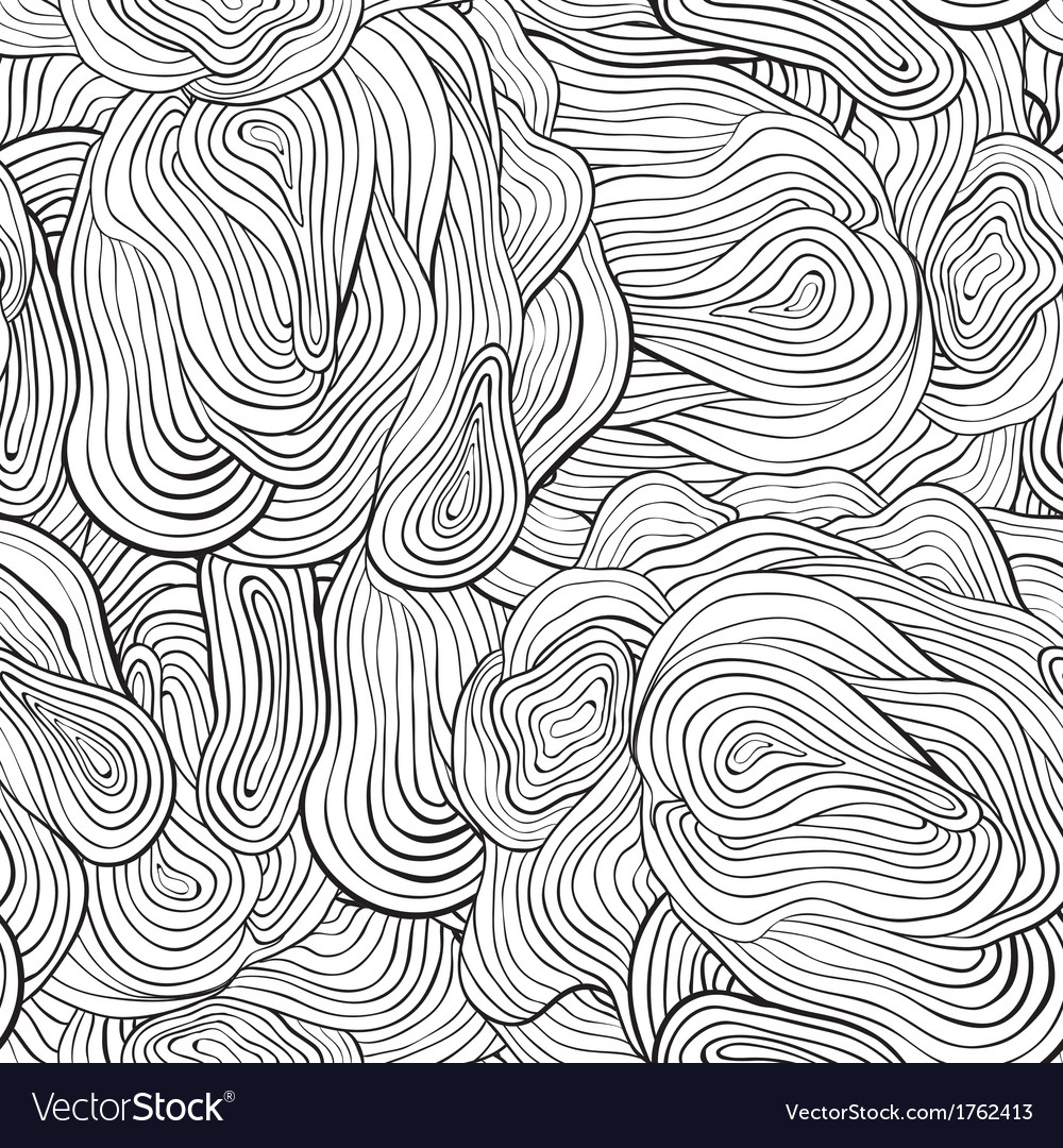 Seamless curve pattern Black and white background