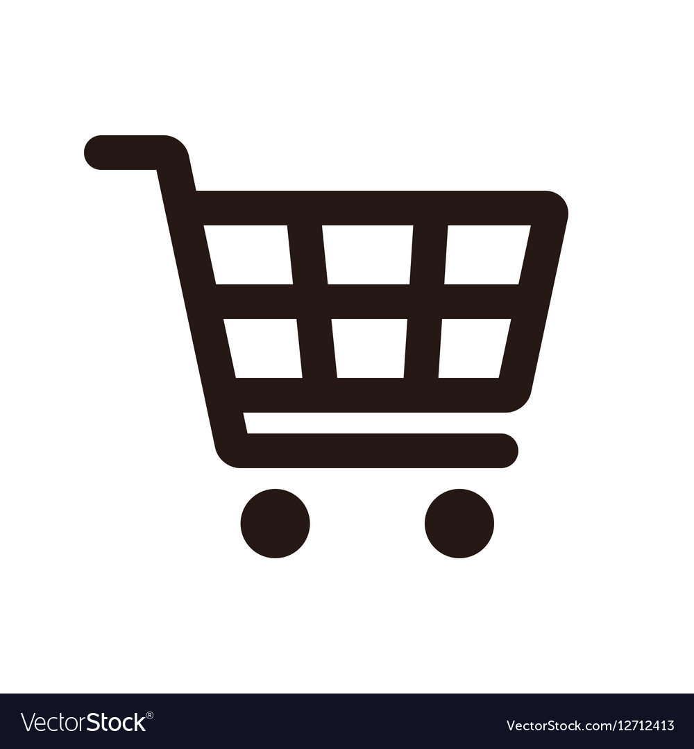 shopping cart icon royalty free vector image vectorstock rh vectorstock com shopping cart vector icon shopping cart icon vector free