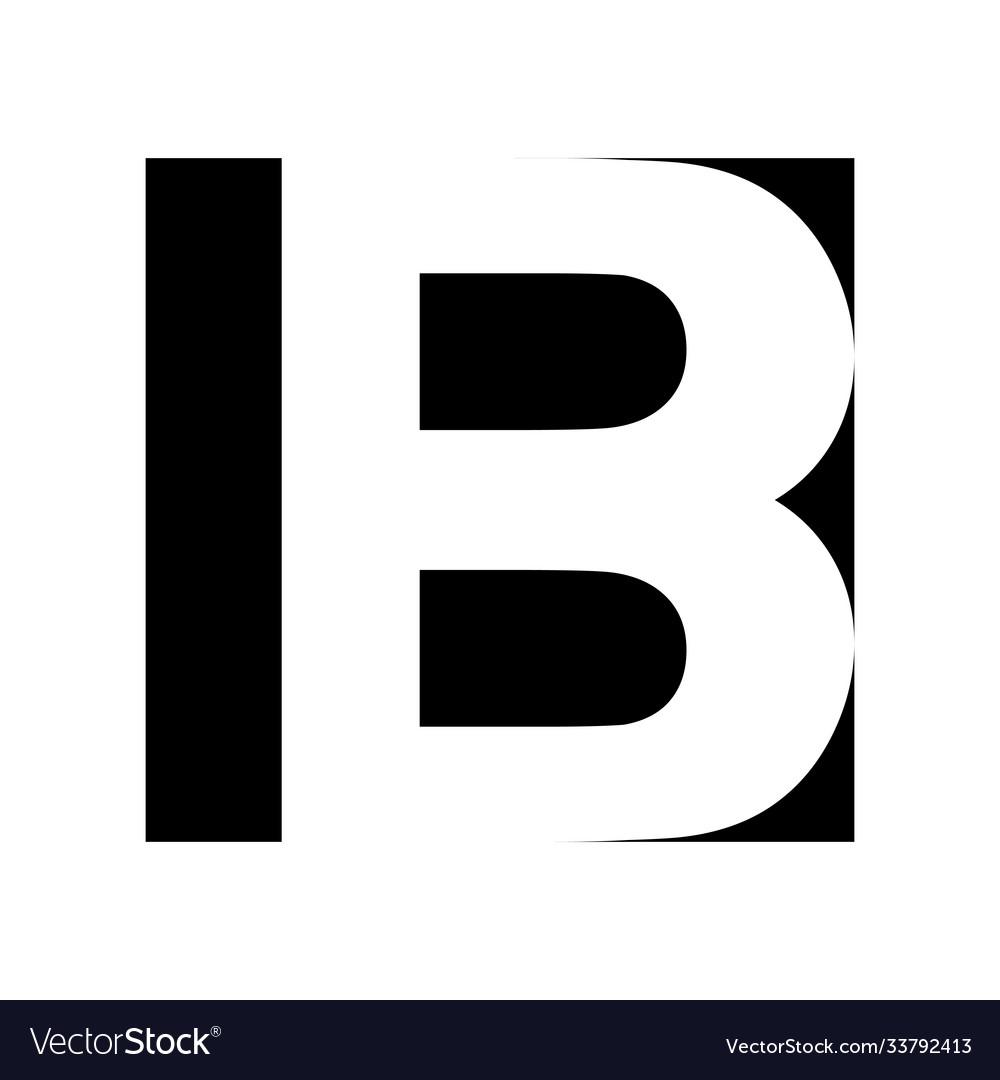 Simple elegant logo letter b premium