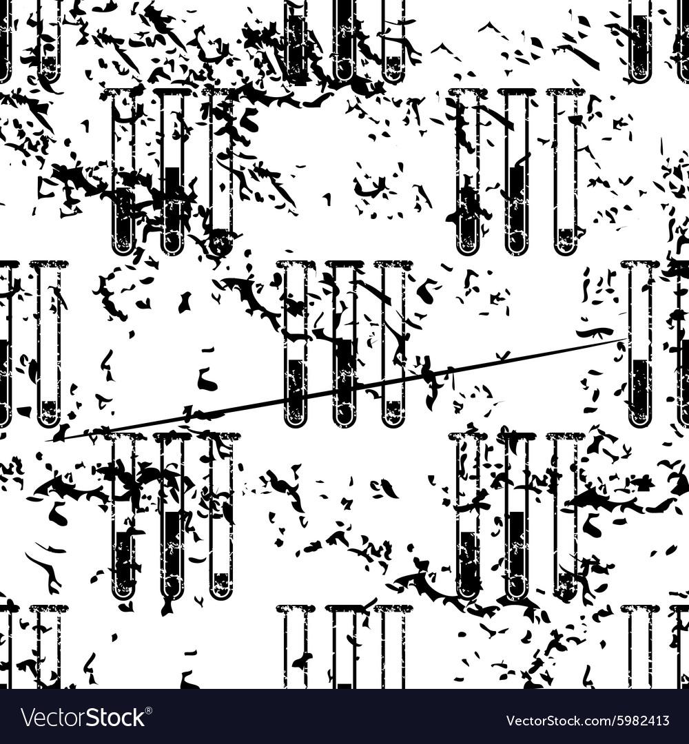 Test-tubes pattern grunge monochrome vector image