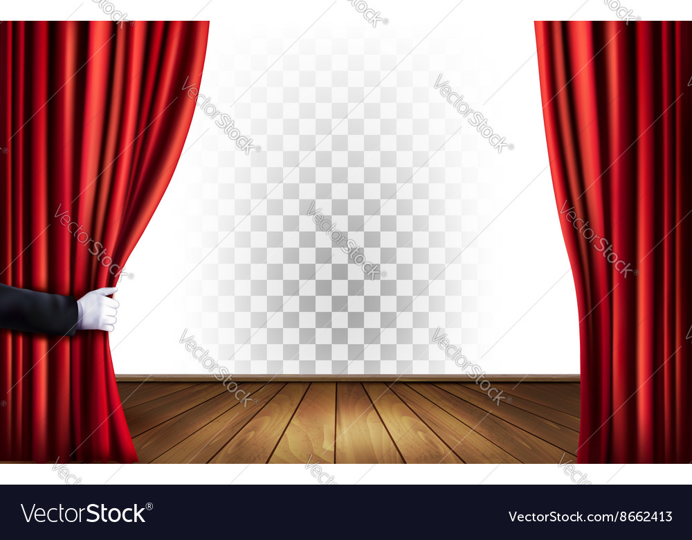 Theater curtains with a transparent background