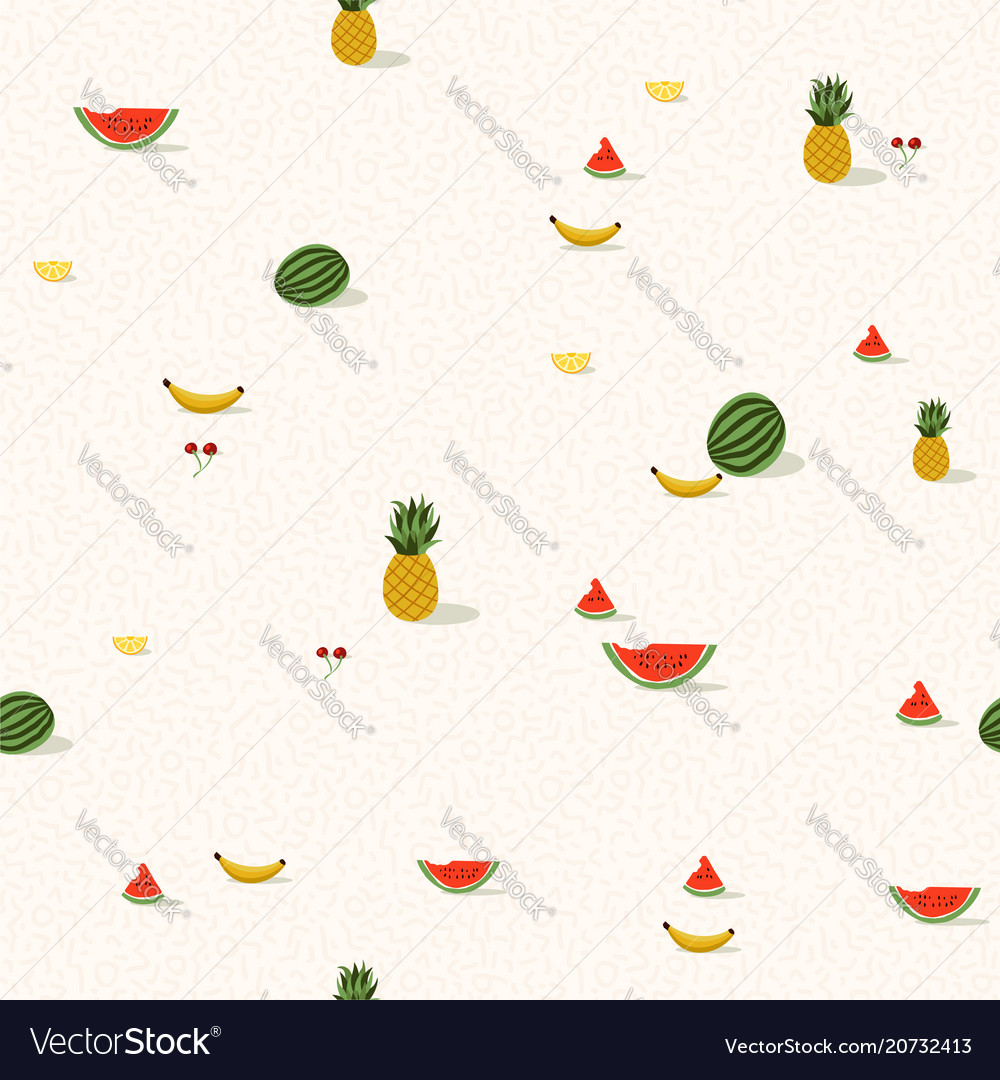 Tropical summer fruit background pattern