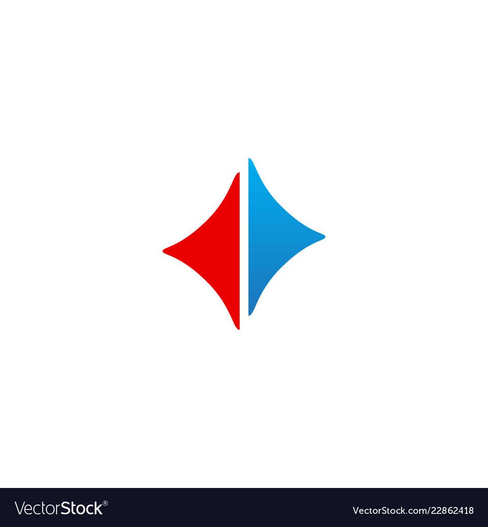 Abstract triangle arrow right left logo