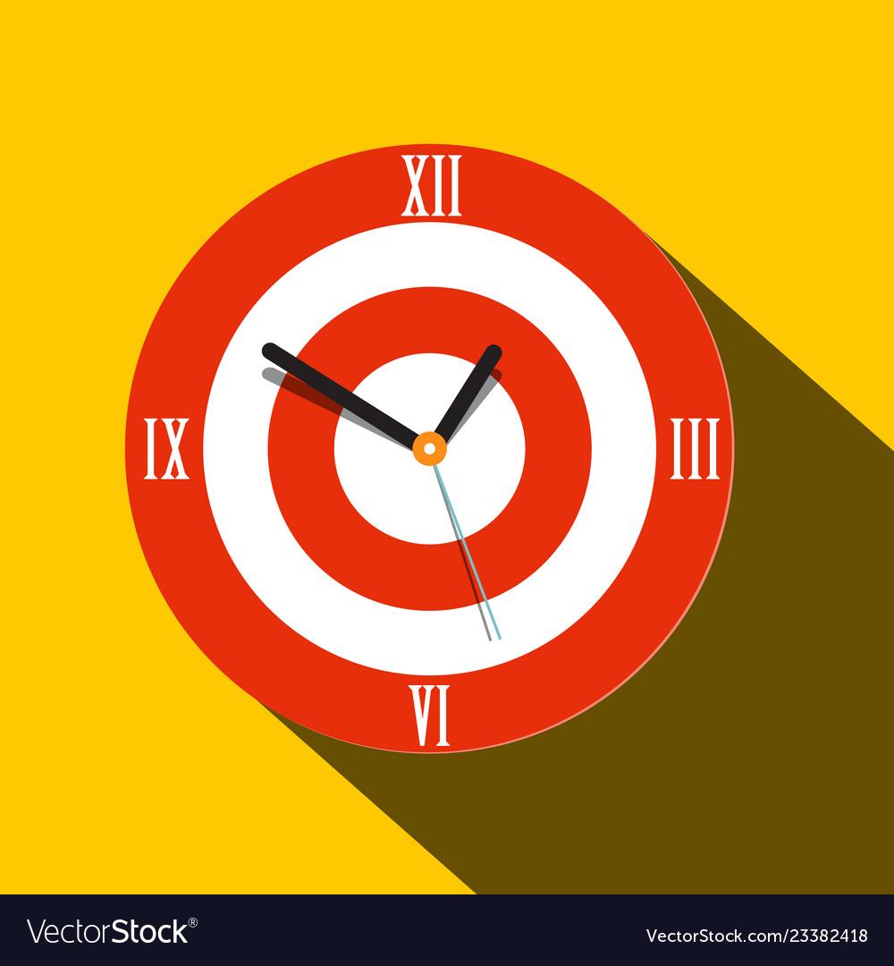 Clock icon flat design time symbol
