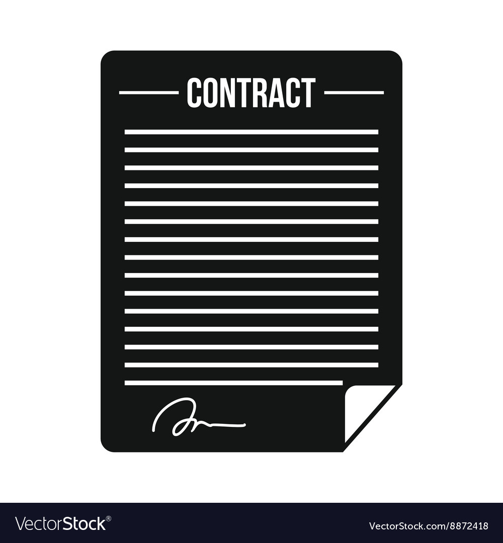contract icon in simple style royalty free vector image