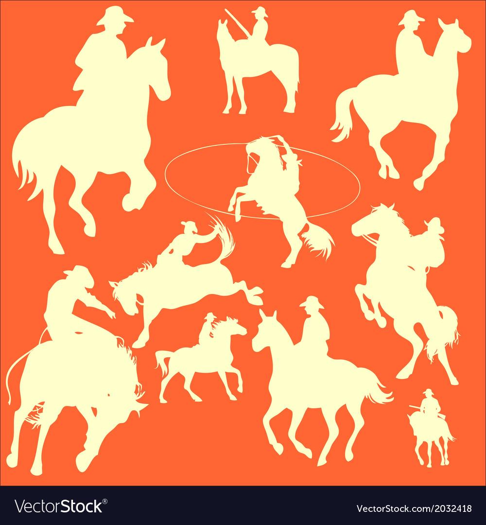 CowBoys 2 vector image