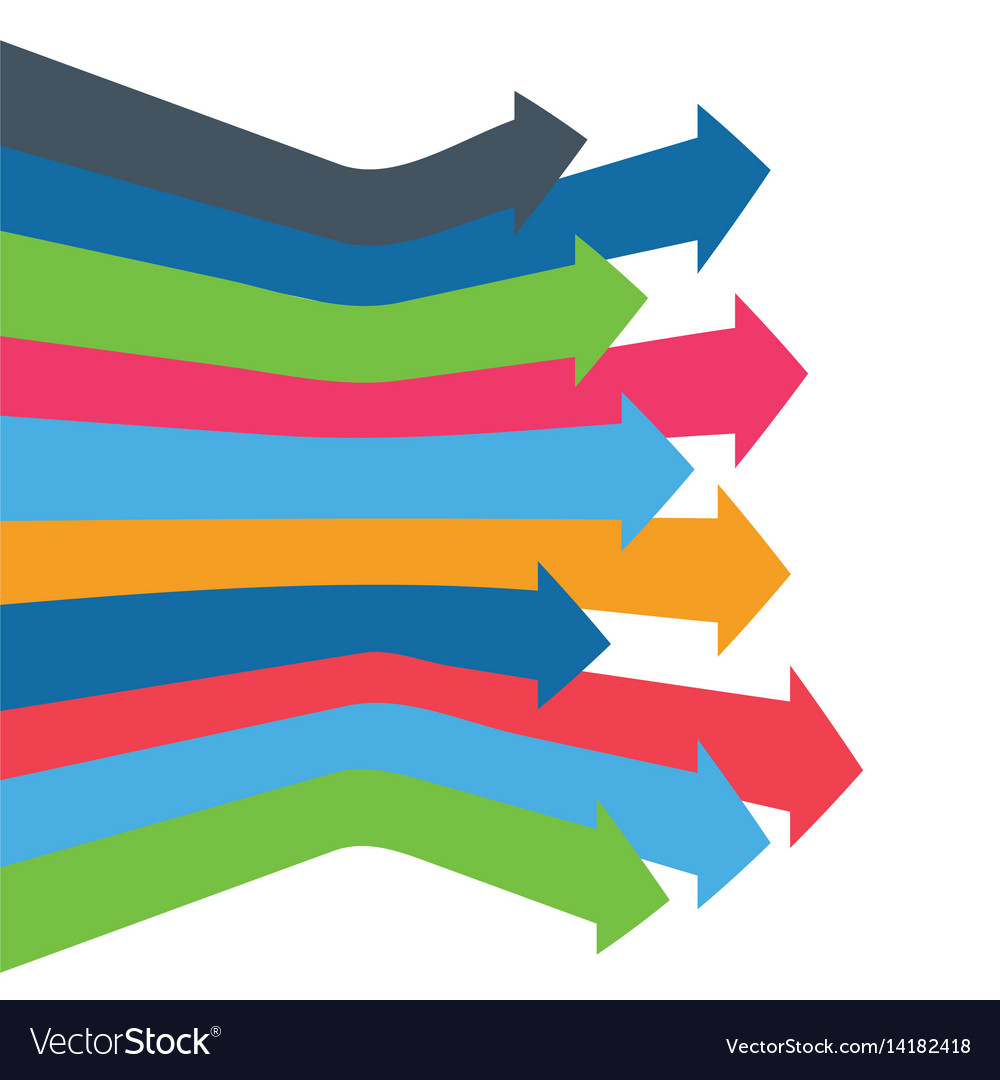 Infographic arrow arrows of growth
