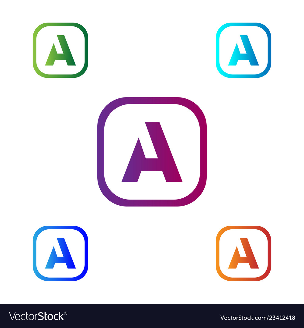 Letter a abstract creative logo template