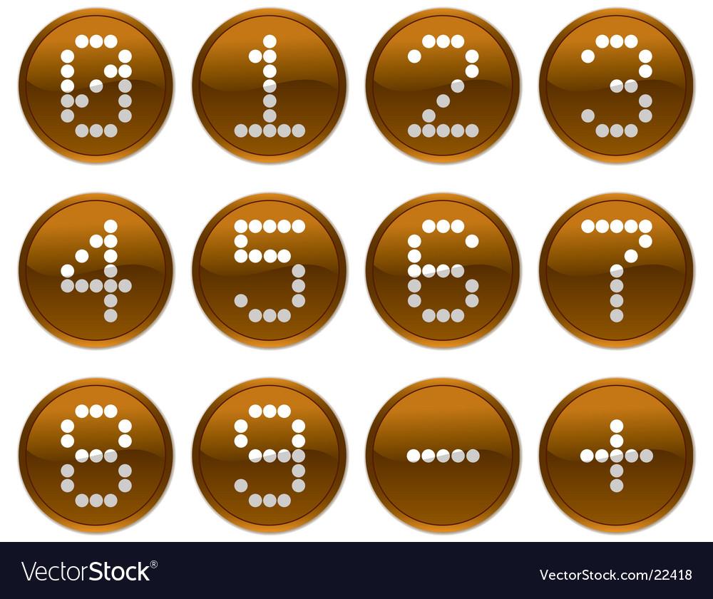 Matrix digits icons vector image