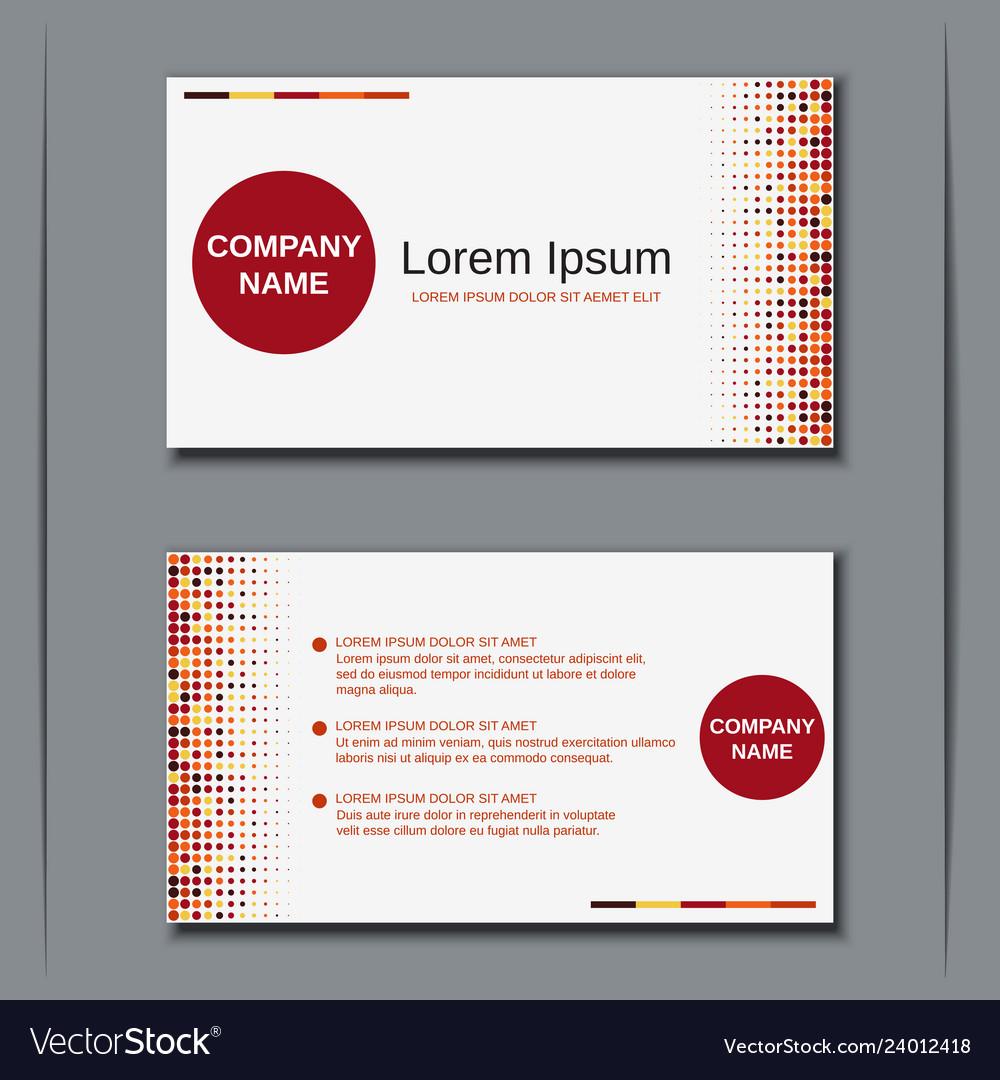 Modern business visiting card template