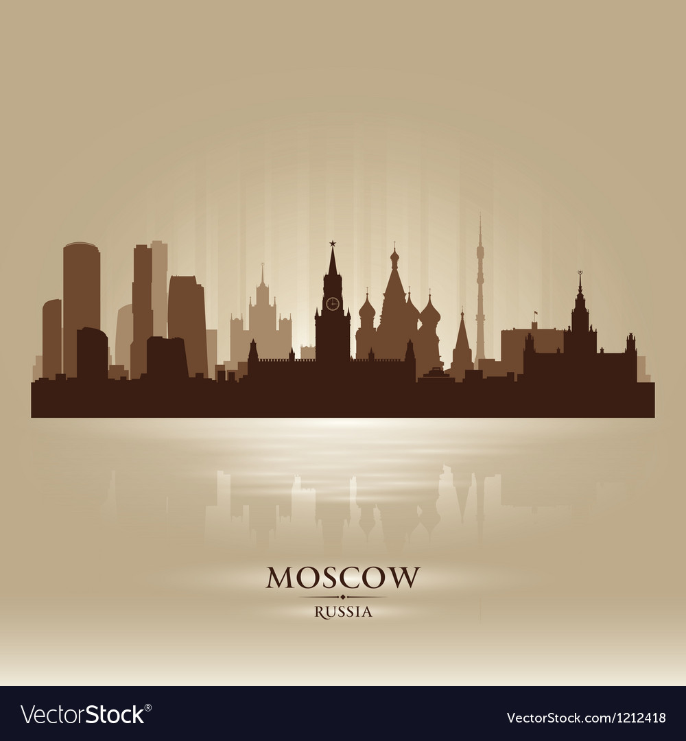 Moscow Russia skyline city silhouette vector image