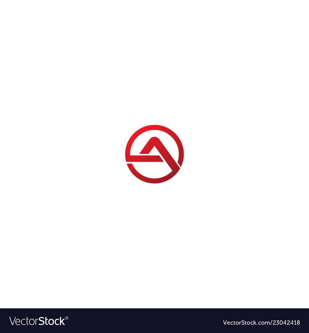 Round shape a initial company logo
