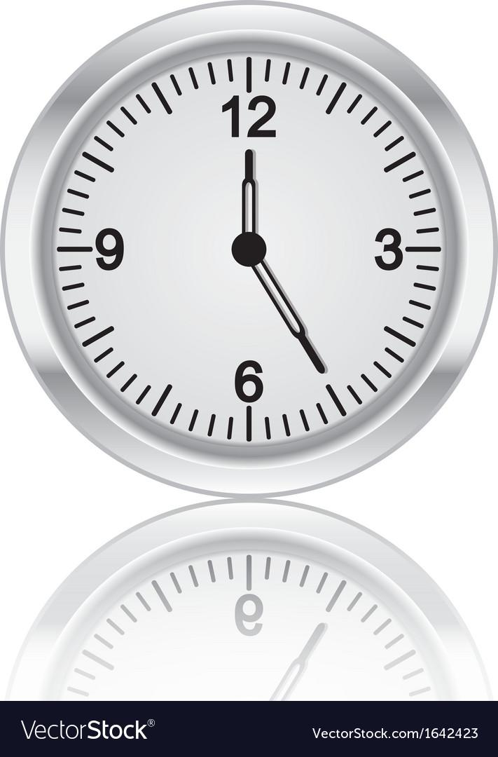 3D metal clock vector image