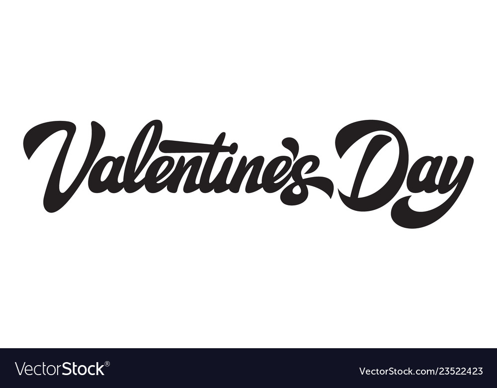 Alligraphic horizontal inscription valentines