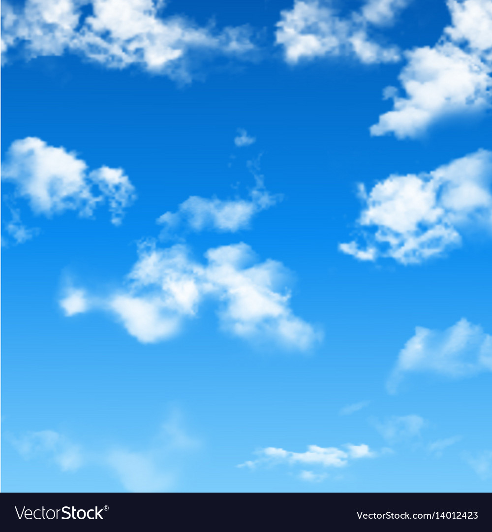 Blue sky with clouds Royalty Free Vector Image