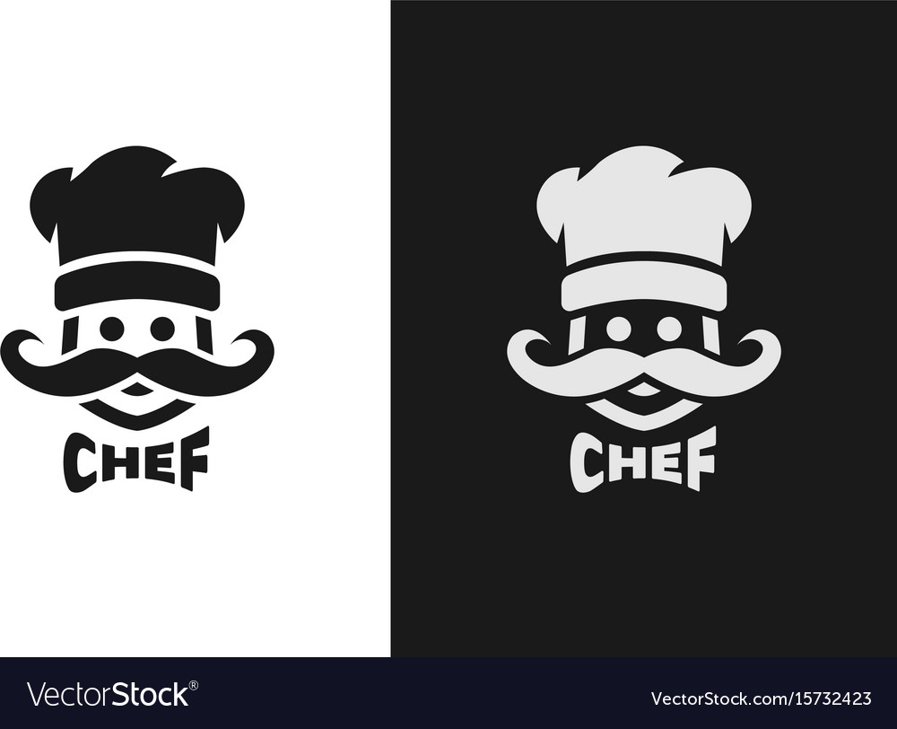 Chief monochrome logo two versions vector image