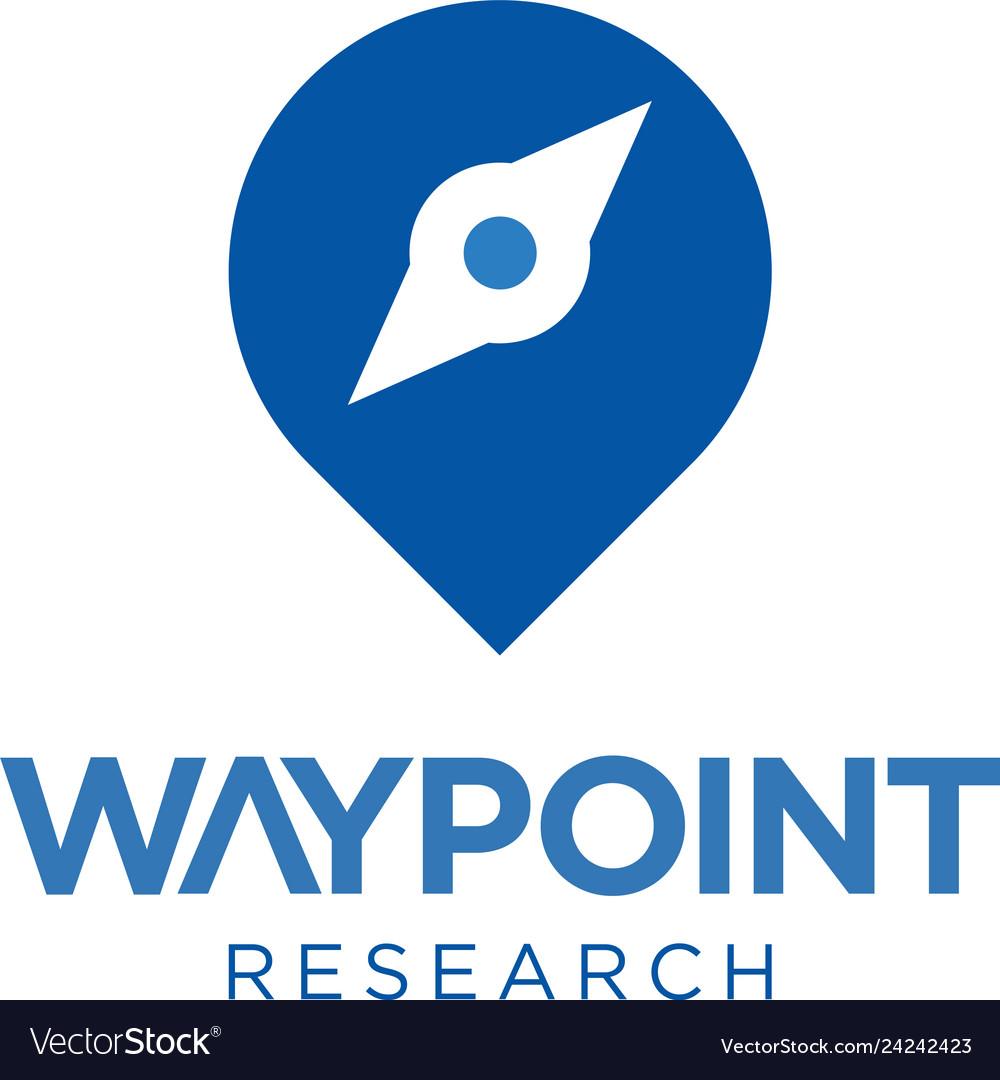 Compass point logo concept