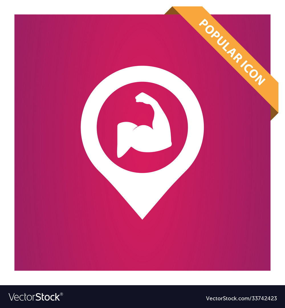 Fitness place with pin icon