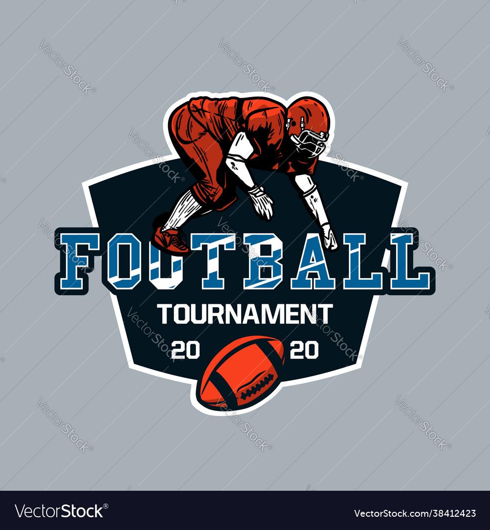 Logo design football tournament 2020