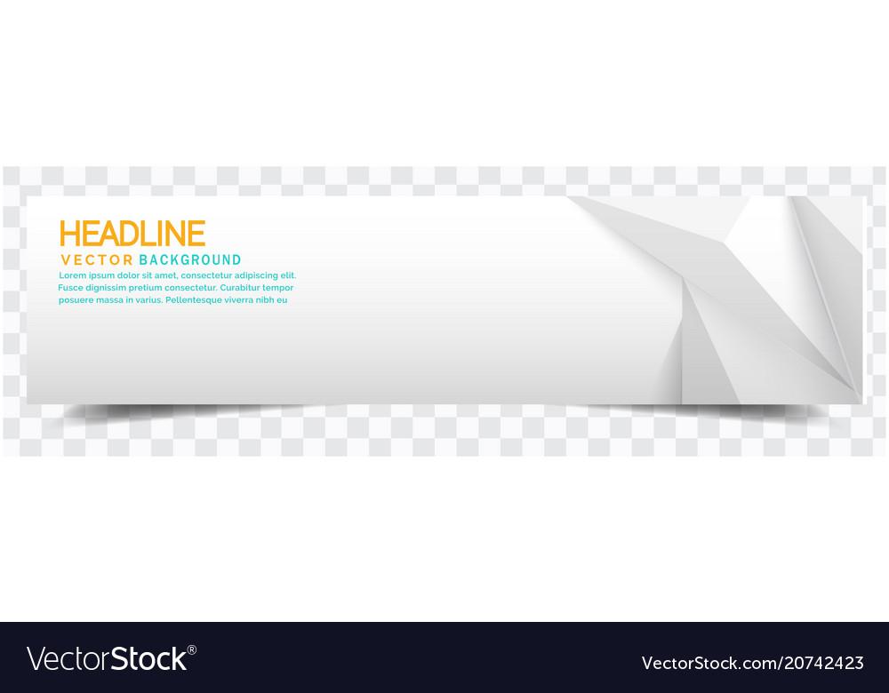 Modern white crystal white background headline vec