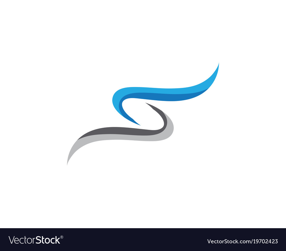 S letter logo icon design template