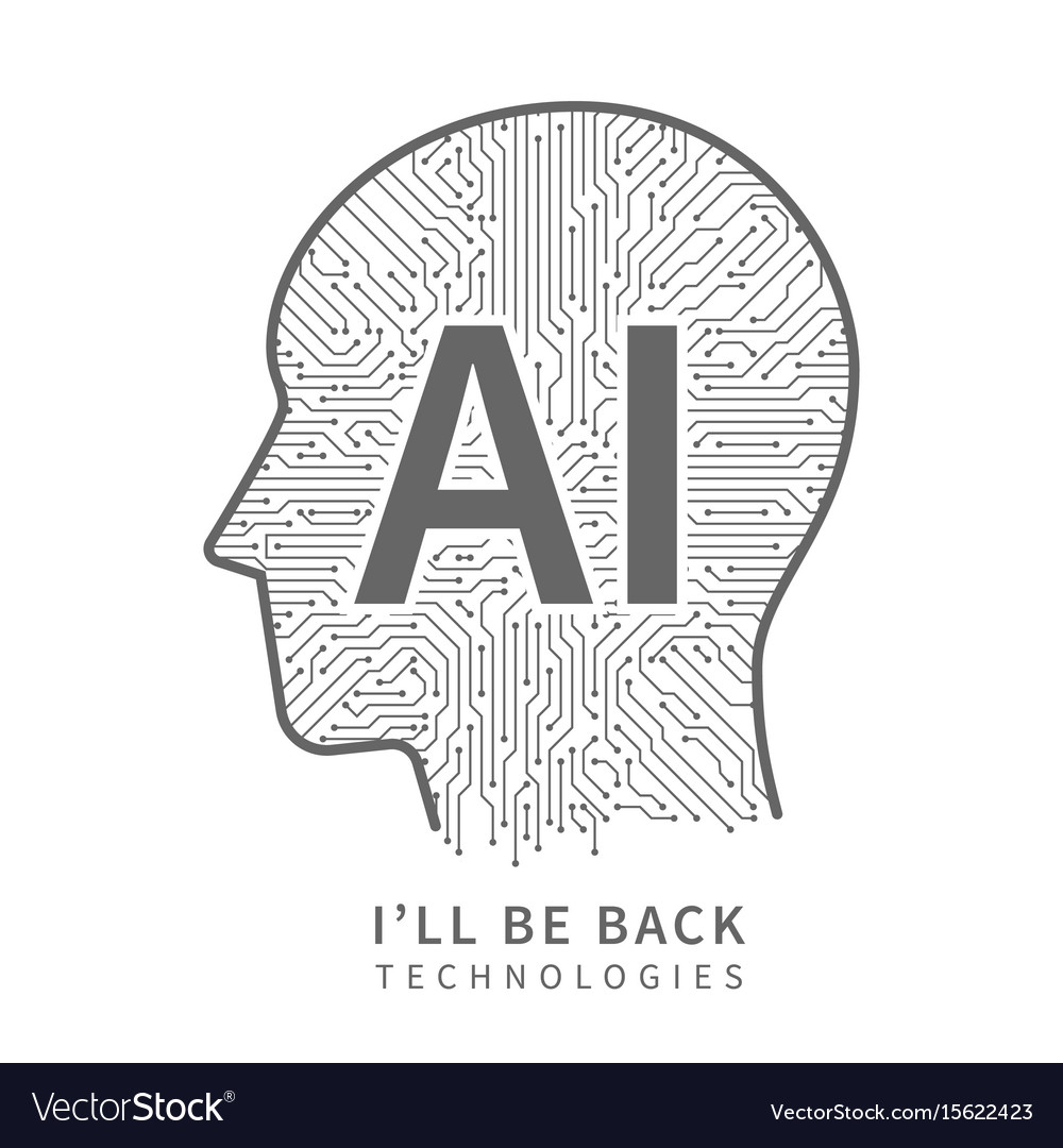 Science technology background artificial vector image