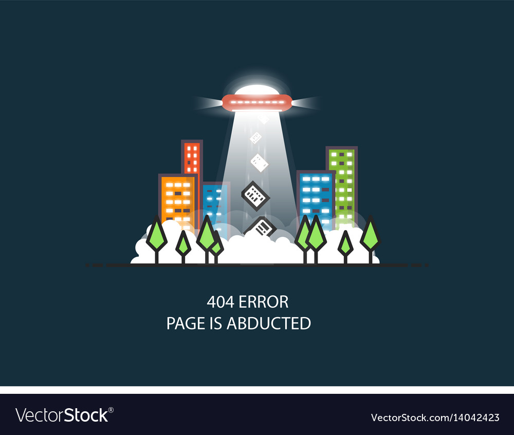 Ufo missing page vector image