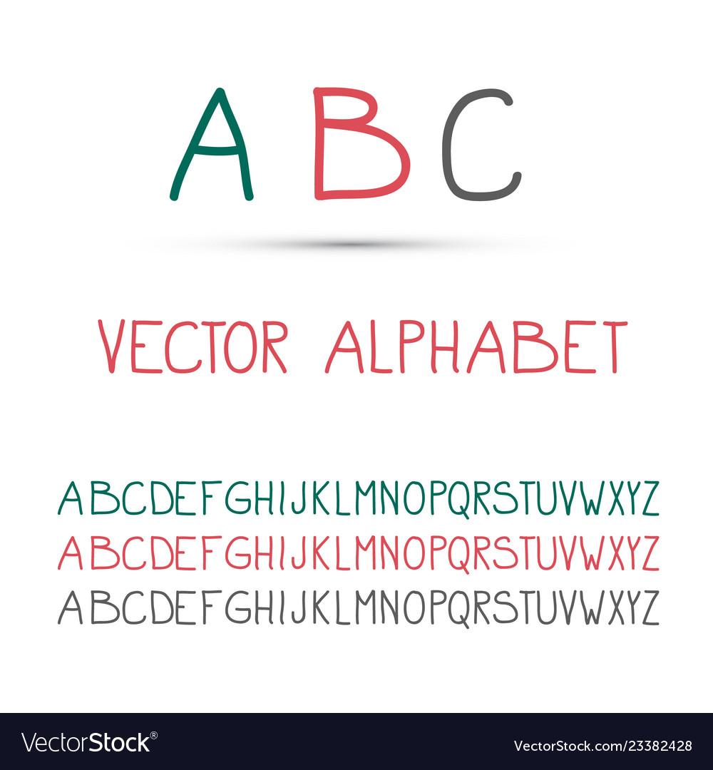 Abc - alphabet set