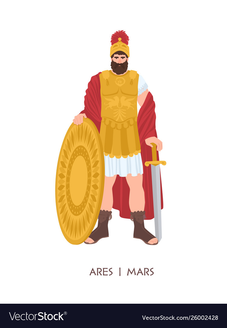 Ares or mars - olympian god or deity war in