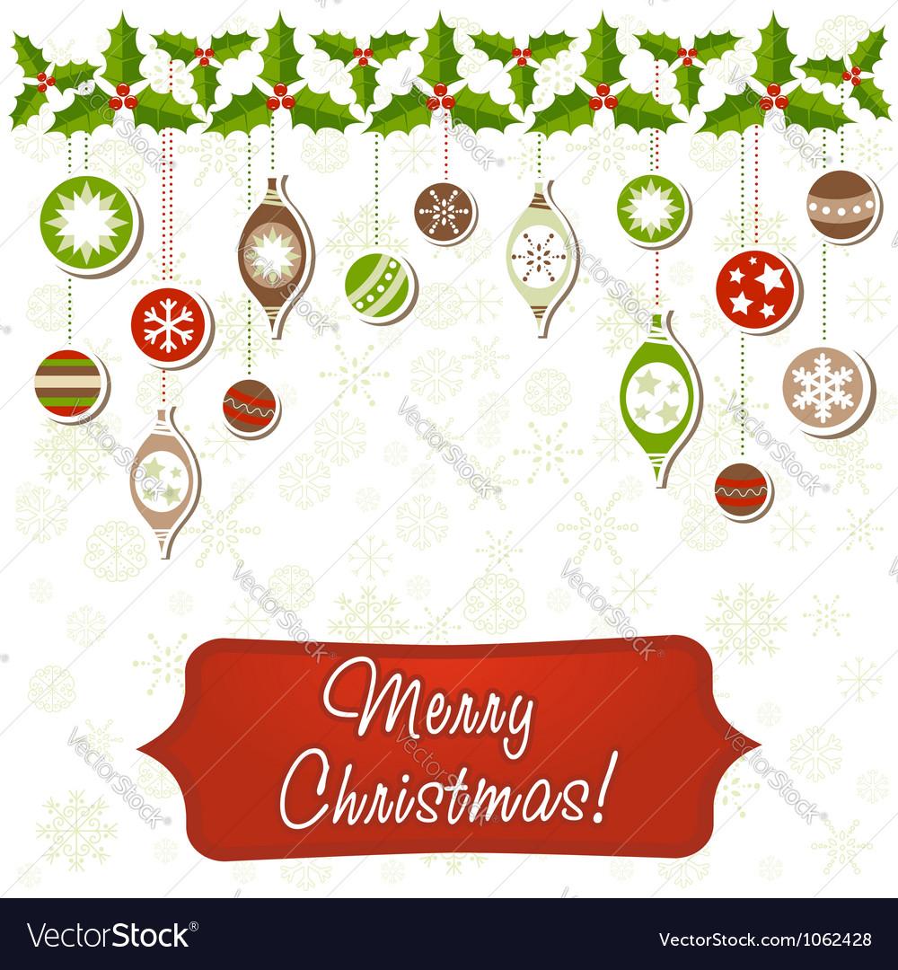 Beautiful christmas greeting card royalty free vector image beautiful christmas greeting card vector image m4hsunfo