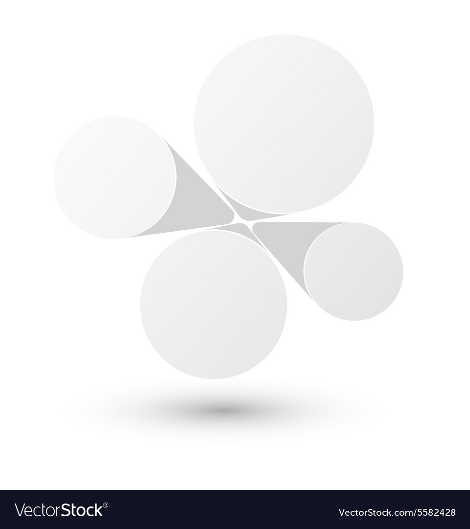 Bubble white infographics design vector image