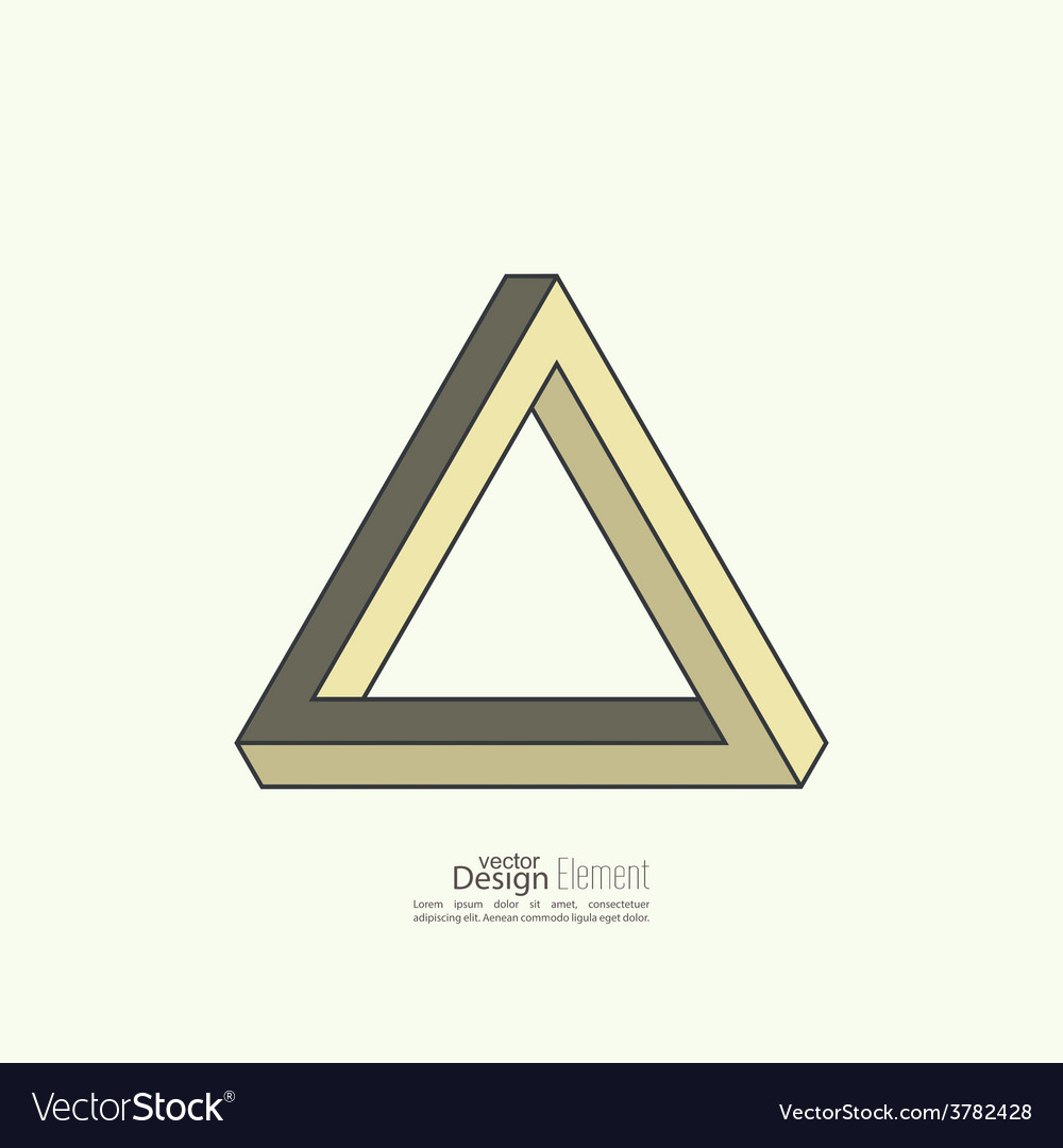 Infinite looped triangle vector image