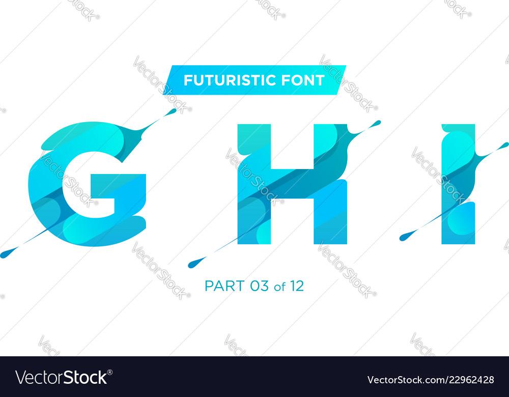 Modern futuristic typeface design perfect
