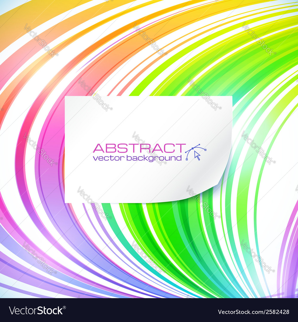 Rainbow abstract lines background with white