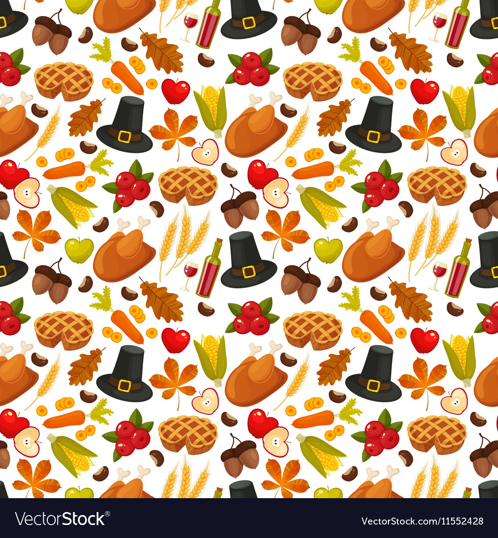 Thanksgivin day seamless backgroundsymbols