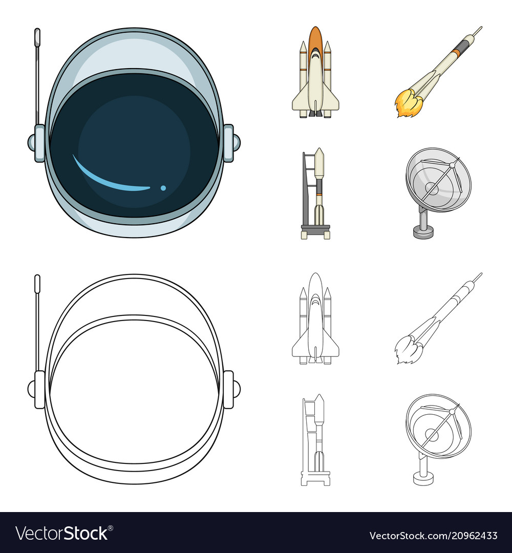 a spaceship in space a cargo shuttle a launch vector 20962433 a spaceship in space a cargo shuttle a launch vector image