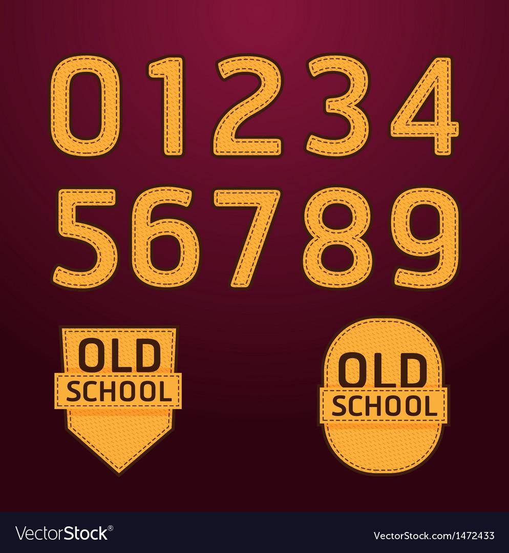 Alphabet textile retro college style