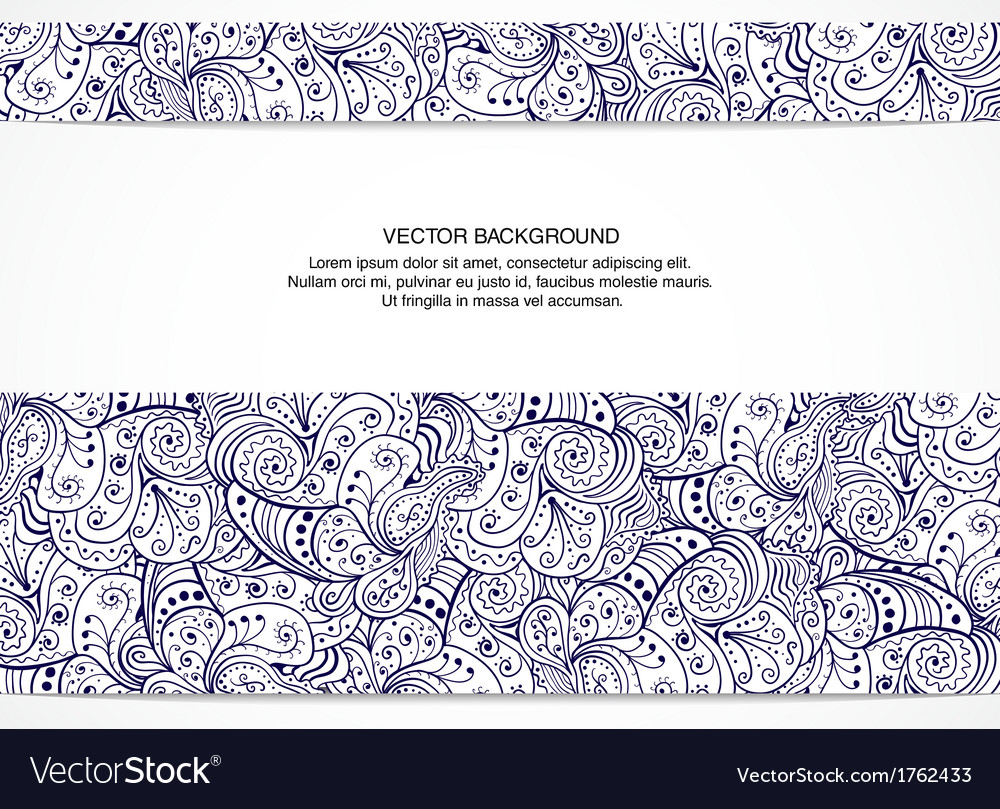 Beautiful floral invitation card Black and white vector image