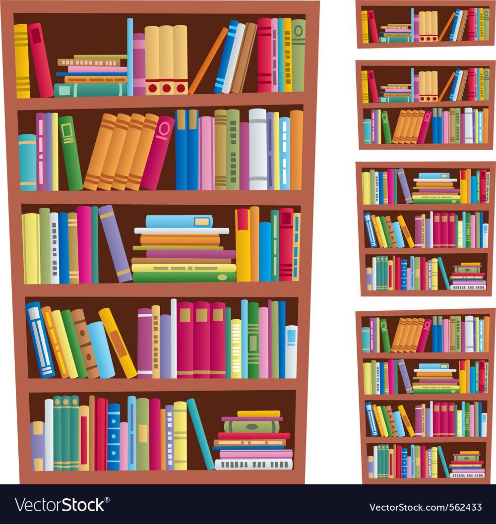Bookshelf Royalty Free Vector Image - VectorStock