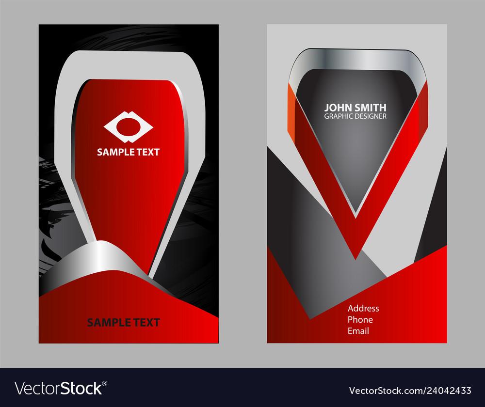 Business card set elements for design