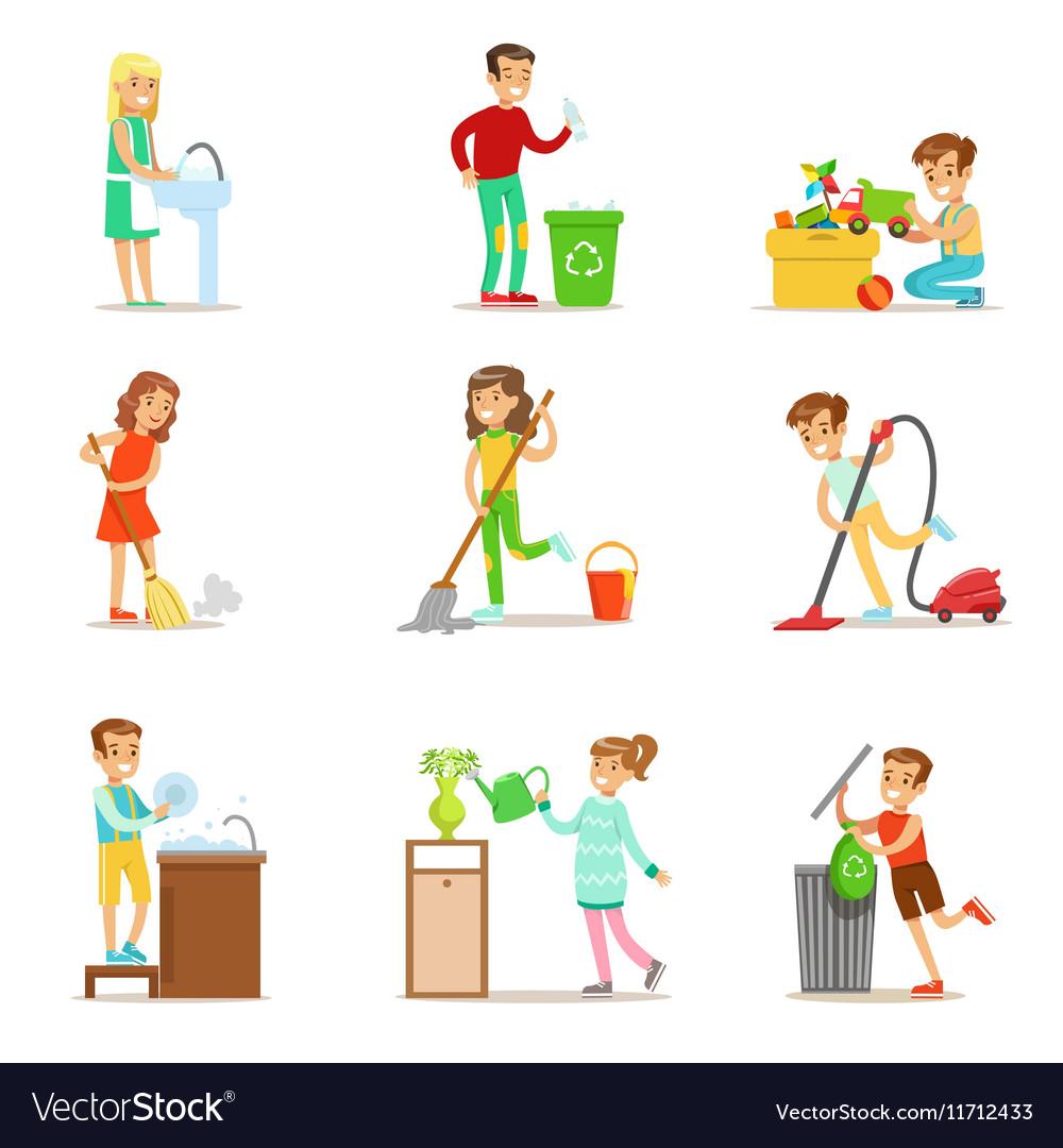 Картинки домашние дела для детей