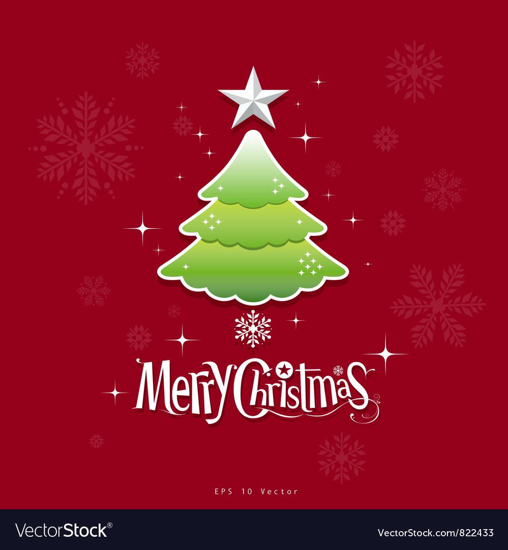 Christmas green tree design